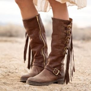 Shoes - Women's Frye Veronica Strap Tall Knee High Boots